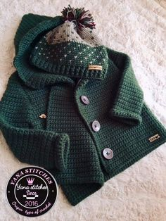 Image gallery – Page 92183123607986200 – Artofit Crochet For Boys, Knitting For Kids, Cute Crochet, Baby Knitting Patterns, Crochet Baby Clothes, Newborn Crochet, Donia, Baby Coat, Crochet Jacket