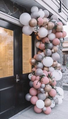 Ballongirlande - Decoration For Home 21 Balloons, Rose Gold Balloons, Rainbow Balloons, Wedding Balloons, Baby Shower Balloons, Balloon Garland, Balloon Arch Diy, Champagne Balloons, Ballon Arch