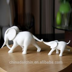 Sculpture, Sculpture direct from Zhuhai Darchin Home Decoration Co. Elephant Home Decor, Elephant Crafts, Elephant Art, Ceramic Elephant, Elephant Sculpture, Resin Sculpture, Diy Fimo, Polymer Clay Crafts, Baby Elefant