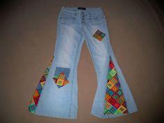DIY Hippie Jeans - no link