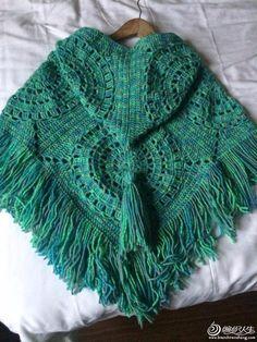 Ponchos cuadrados de la abuelita - CrochetRibArt