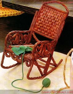 gumpaste rocking chair tutorial