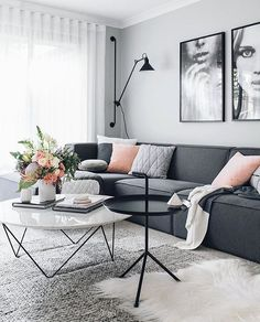 In love with this beautiful living room! The gorgeous home of @oh.eight.oh.nine .Good night IG friends!.#livingroom #interiorstyling #nordichome #nordicinspiration