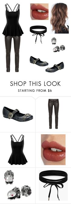 """""""On Time ⏳"""" by rag-doll0 ❤ liked on Polyvore featuring Demonia, Gucci, Doublju, Charlotte Tilbury, Betsey Johnson and Boohoo"""