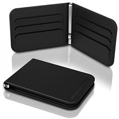 Dosh Aero Wallet 6 Card Money Clip Business Stainless Steel Slim Purse TPU NEW Shadow Black