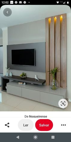 Modern Tv Unit Designs, Wall Unit Designs, Living Room Tv Unit Designs, Tv Wall Design, Tv Unit Furniture Design, Tv Unit Interior Design, Deco Tv, Temple Design For Home, Modern Tv Cabinet