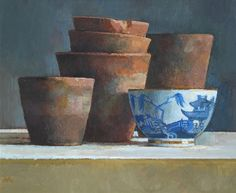 Old Pots with a Chinese Bowl by Barbara Richardson
