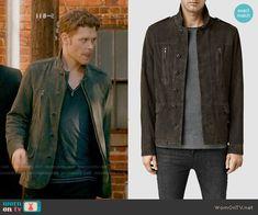 Klaus's grey suede jacket on The Originals.  Outfit Details: http://wornontv.net/54651/ #TheOriginals