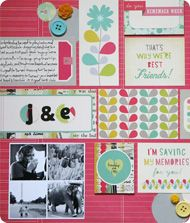 Grid design scrapbooking class taught by @Elizabeth Dillow and @wendysmedley