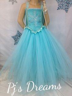 Disney's Elsa frozen inspired tutu dress pageant parties store photos  2T-age 10 #PjsDreams
