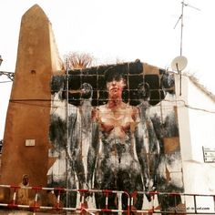 Borondo street art Lagos, Algarve, Portugal || Read my blogpost here: http://www.blocal-travel.com/street-art/lagos-street-art-guide/