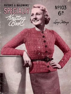 1930s Vintage Plus Size Knitting Patterns for Women Patons &