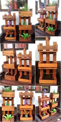 There are many individuals with the love of plants and they try to do everything possible to decorate their home with the colorful flowers from the outside as well as from the inside. They use the plants to make their place attractive and they also buy many planters, so they can arrange the flowers in the garden. But here we are going to present an idea which will allow creating the pot stands for the flowers at home and they will not appear weird. See the reused wood pallet pot stand and…