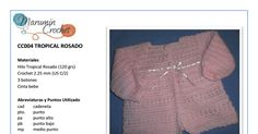 CC004 Rosa tropical .pdf Tropical, Ruffle Blouse, Sweaters, Women, Fashion, Crochet Coat, Chain Stitch, Dresses For Babies, Cute Clothes