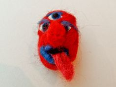 Monster Brooch Red Things, Brooches, Art, Art Background, Brooch, Kunst, Performing Arts, Art Education Resources, Artworks