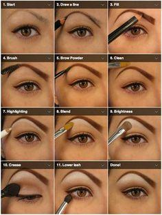 Natural Eyeshadow Tutorial For Beginners Natural Eye Makeup Step Makeup Hacks, Makeup Tips, Beauty Makeup, Hair Makeup, Makeup Tutorials, Eyeshadow Tutorials, Makeup Ideas, Natural Eyeshadow Looks, Natural Eye Makeup