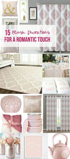 15 Blush Decorations for a Romantic Touch - Happily Ever After, Etc.