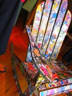 Craft room - Decoupaged chair