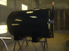 500 gallon double wall fuel tank - Freshly painted