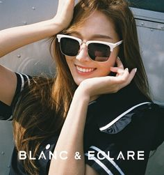 Blanc & Eclare Update with Jessica Jung. Jessica & Krystal, Krystal Jung, Celebrity Sunglasses, Sunglasses Women, Fashion Line, Fashion Brand, Blanc And Eclare, Jessica Jung Fashion, Snsd