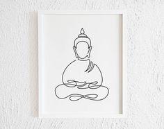 one line tattoo tattoos Buddha Meditating Doodle Print. Printable Minimalist Buddha Drawing Interior Home Decor. One Line Buddha Illustration Wall Art. Buddha Drawing, Buddha Painting, Buddha Art, Buddha Doodle, Buddha Decor, Buddha Tattoo Design, Buddha Tattoos, Buddha Symbol Tattoo, Tattoo Symbols