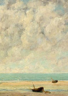 The Calm Sea(Detail)  -   Gustave Courbet  1869   French 1819-1877