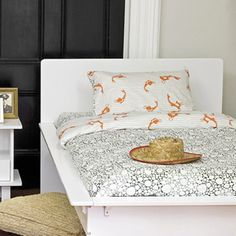 kids bed linen, girl, boy, fish, sea, grey, orange