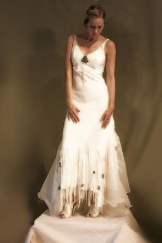 White Leather Wedding Dress Native American Inspired Boho Wedding ...