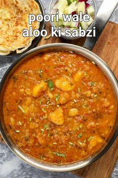 aloo sabzi for puri | recipe of puri bhaji | poori potato masala | aloo curry for puri with step by step photo and video recipe. potato vegetables is one versatile ingredient and can be used to make different types of recipes. even within the curry section, you can make myriad types by having potato as a hero or side ingredients. but this recipe post describes one of the popular north indian purpose-based gravy curry known as poori potato masala curry served alongside puffed pooris. Puri Recipes, Spicy Recipes, Cooking Recipes, Yummy Recipes, Indian Veg Recipes, Indian Dessert Recipes, Tandoori Masala, Masala Curry, Aloo Curry