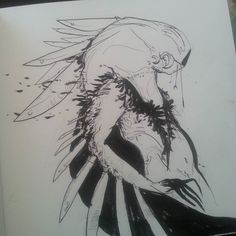 Posted by paracoma : Day 11 of #inktober -- Envy Demon. Pushin blacks still not sure how I feel about this one.