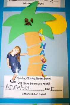 Chicka Chicka Boom Boom! Love adding the picture of a student! (image only)