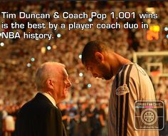 Tim Duncan and Coach Pop