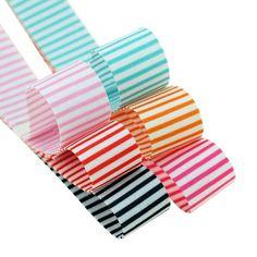 Surker 6 Colors Boutique Stripe Ribbon DIY Hair Accessories Bow Value Pack ** For more information, visit image link.