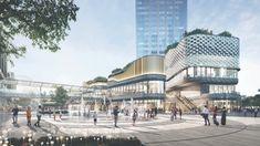 MUSE Design Awards | Mix Use Architectural Designs MixC Dongguan Songsh Retail Facade, Tourist Center, Mixed Use Development, Project Site, Urban Park, Dongguan, Urban Industrial, Lake District