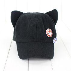 Anime Neon Genesis Evangelion EVA Asuka Langley Soryu Cat Ear Polar Fleece Cosplay Hat for Girl Cap Badges