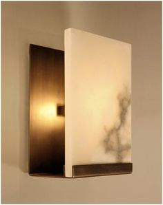 Fuse Lighting - Oslo Sconce with alabaster shade www.fuselighting.com
