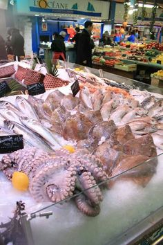 Seafood market at Le Marched, Nancy, France