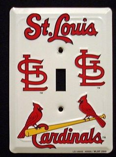 St Louis Cardinals MBL Aluminum Novelty Single Light Switch Cover Plate Tag City http://www.amazon.com/dp/B001M58W34/ref=cm_sw_r_pi_dp_P1K5tb1K9ESYB
