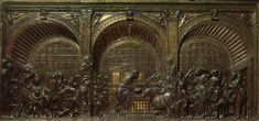 Donatello   Miracolo dell'asina dai Miracoli di Sant'Antonio, Altare di Sant'Antonio   1446-1453   rilievo in bronzo   Padova   Basilica di Sant'Antonio da Padova