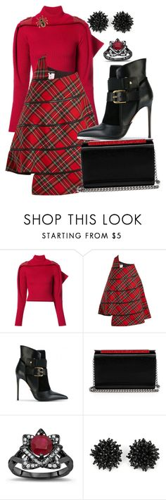 """Tartan Chic"" by quirico ❤ liked on Polyvore featuring Y/Project, Junya Watanabe, Balmain, Christian Louboutin and Heidi Daus"
