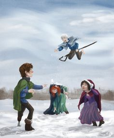 Is that the sound of payback I hear from Merida? Disney Pixar, Disney Memes, Disney And Dreamworks, Disney Art, Cartoon Network Adventure Time, Adventure Time Anime, Cute Disney, Disney Dream, Jack Frost