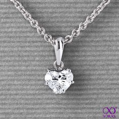 Eligia in white gold with a 1,03 ct. heart-shaped diamond #Yorxs #Diamantanhänger