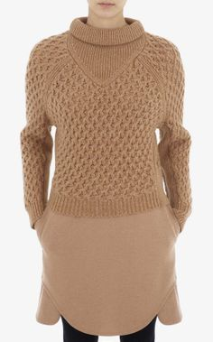 Carven : Pull court I'm knitting a sweater now nearly identical to this in color, shape, & texture!!