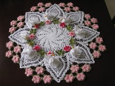 Made to order table runner crochet doily large by KroneCrochet