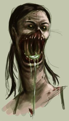 The ever-so-lovely Spitter from Left 4 Dead 2, done in Photoshop CS2.