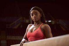 Hear my story in The Simone Biles Story: tonight at on Black Gymnast, Young Gymnast, Female Gymnast, Gymnastics Equipment For Home, Gymnastics Team, Olympic Gymnastics, Fab Five, Simone Biles, Olympic Athletes