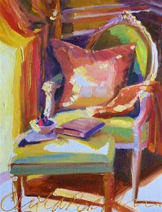 """FRENCH CHAIR"" - Original Fine Art© Cecilia Rosslee"