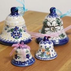 Polish pottery bells, how adorable!