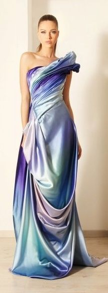 Rami Kadi blue evening gown...what a fabulous use of color!