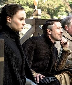 Petyr Baelish and Sansa Stark - new season stills.
